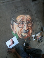 Hayek as Street Art