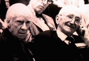 William Hutt (left) with F.A. Hayek.